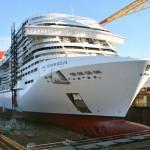 MSC Cruceros realiza la flotación del MSC Meraviglia