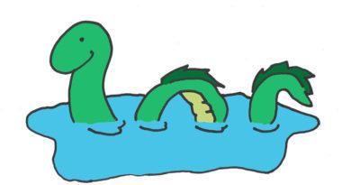 Lago Ness. Nessie está triste